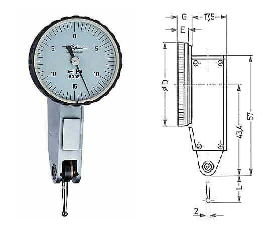Abbildung: Fühlhebelmessgerät K 30 Z 0 - 0,030 inch (Das Bild kann vom Original geringfügig abweichen.)