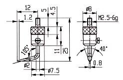 Abbildung: Messeinsatz Stahl 10 mm Ø (Das Bild kann vom Original geringfügig abweichen.)