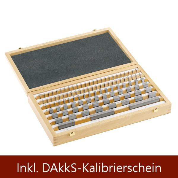 Abbildung: Parallel-Endmaßsatz aus Stahl, Güte 2 103 Stück (Das Bild kann vom Original geringfügig abweichen.)