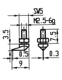 Abbildung: Messeinsatz Stahl 7,8 mm Ø (Das Bild kann vom Original geringfügig abweichen.)