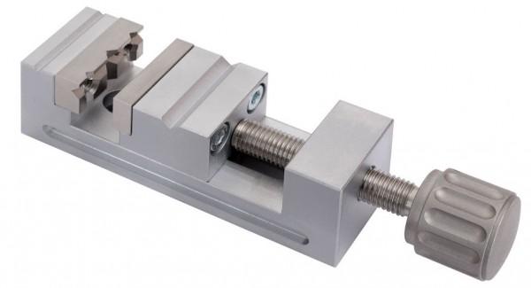 Abbildung: Mini- Schraubstock Größe 2 Stahl matt verchromt 75 mm x 25 mm x 25 mm (Das Bild kann vom Original geringfügig abweichen.)
