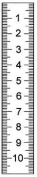 Abbildung: Rostfreier Stahlmaßstab in Sonderausführung 3000 x 18 x 0,5 mm (Das Bild kann vom Original geringfügig abweichen.)