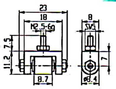 Abbildung: Messeinsatz Stahl (Das Bild kann vom Original geringfügig abweichen.)