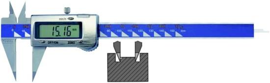 Abbildung: Elektronischer Digital Spitzen Messschieber 0 - 150 mm (0 - 6 inch) (Das Bild kann vom Original geringfügig abweichen.)