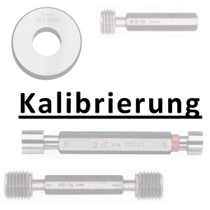 Abbildung: Kalibrierung inkl. Zertifikat Grenzlehrdorn bis 50 mm (Das Bild kann vom Original geringfügig abweichen.)