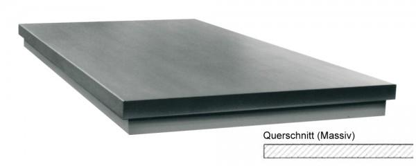 Abbildung: Richtplatte, massive Ausführung 200mm x 200mm x 40mm (Das Bild kann vom Original geringfügig abweichen.)