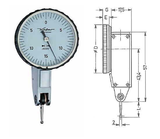 Abbildung: Fühlhebelmessgerät K 40 Z 0 - 0,030 inch (Das Bild kann vom Original geringfügig abweichen.)