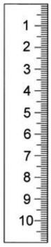 Abbildung: Rostfreier Stahlmaßstab in Sonderausführung 400 x 18 x 0,5 mm (Das Bild kann vom Original geringfügig abweichen.)