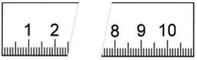 Abbildung: Rostfreier Stahlmaßstab in Sonderausführung 2000 x 18 x 0,5 mm (Das Bild kann vom Original geringfügig abweichen.)