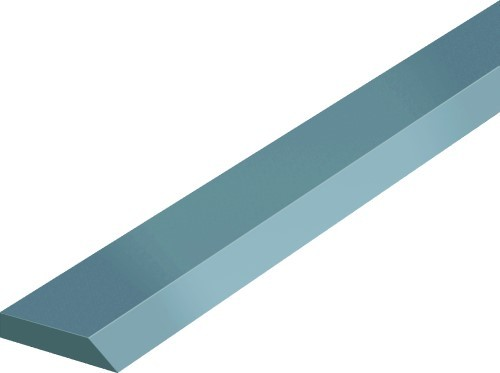 Abbildung: Fasenlineal DIN 874/1 2000 mm (Das Bild kann vom Original geringfügig abweichen.)