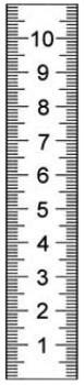 Abbildung: Rostfreier Stahlmaßstab in Sonderausführung 1000 x 18 x 0,5 mm (Das Bild kann vom Original geringfügig abweichen.)