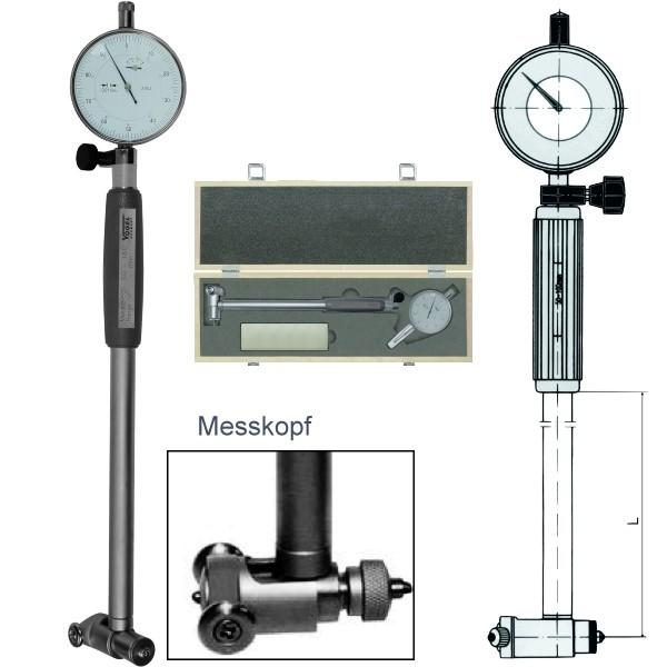Abbildung: Innenfeinmessgeräte-Satz mit Messuhr 160 - 250 mm (Das Bild kann vom Original geringfügig abweichen.)
