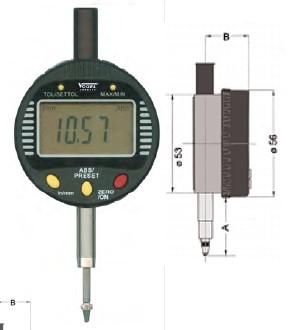 Abbildung: Digitale Kleinmessuhr 0 - 12,7 mm (Das Bild kann vom Original geringfügig abweichen.)