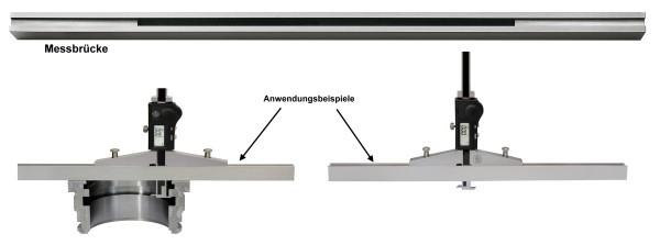 Abbildung: Messbrücke für digitaler Tiefenmessschieber 500 mm 500 mm (Das Bild kann vom Original geringfügig abweichen.)