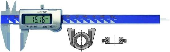 Abbildung: Elektronischer Digital Wellennuten Messschieber 0 - 150 mm (0 - 6 inch) (Das Bild kann vom Original geringfügig abweichen.)