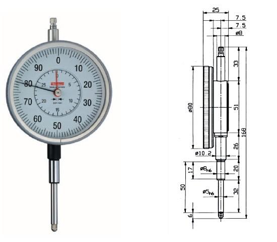 Abbildung: Messuhr GM 80-30T 0 - 30 mm, GM80/30T (Das Bild kann vom Original geringfügig abweichen.)