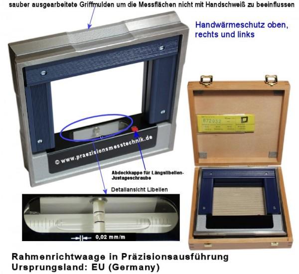 Abbildung: Rahmenrichtwaage, Rahmen-Wasserwaage 150 x 150 mm (Das Bild kann vom Original geringfügig abweichen.)