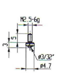 Abbildung: Messeinsatz Stahl 4,7 mm Ø (Das Bild kann vom Original geringfügig abweichen.)