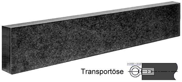 Abbildung: Präzisions Messbalken, DIN 876/00 2000 x 80 x 250 mm (Das Bild kann vom Original geringfügig abweichen.)