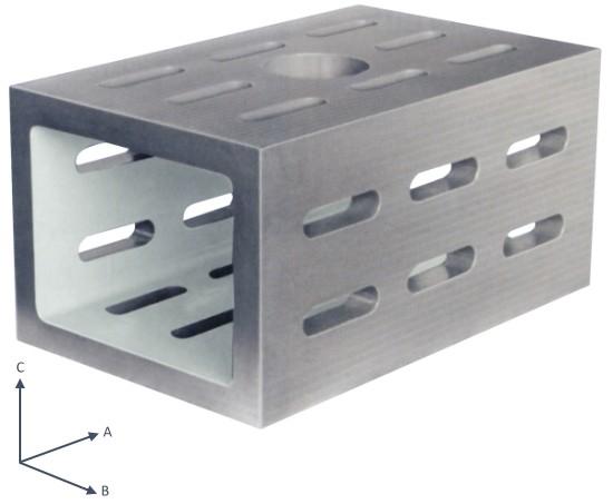 Abbildung: Kastenwürfel aus Spezialguss Güte 3 500x300x250 mm (Das Bild kann vom Original geringfügig abweichen.)