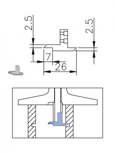 Abbildung: Messeinsatz für digitaler Tiefenmessschieber  (Das Bild kann vom Original geringfügig abweichen.)