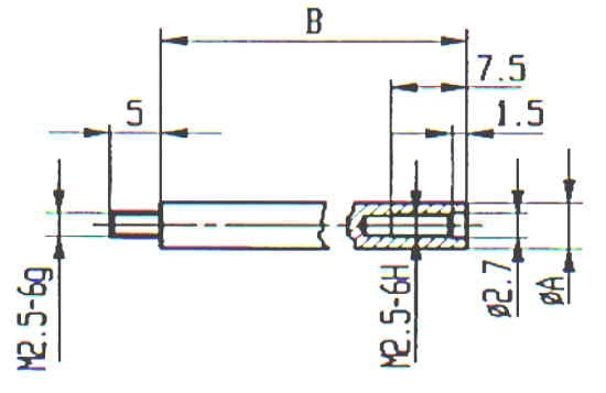 Abbildung: Verlängerungsstück für Messeinsatz (Das Bild kann vom Original geringfügig abweichen.)