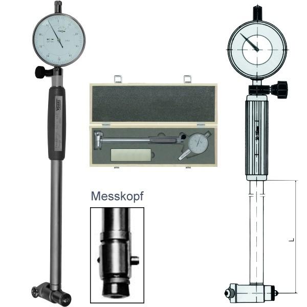 Abbildung: Innenfeinmessgeräte-Satz mit Messuhr 6 - 10 mm (Das Bild kann vom Original geringfügig abweichen.)