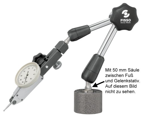Abbildung: Magnet Gelenkstativ Fisso CLASSIC-LINE 2200-20 Höhe: 335 mm (Das Bild kann vom Original geringfügig abweichen.)