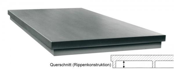 Abbildung: Richtplatte in Rippenkonstruktion 300mm x 300mm x 20/40mm (Das Bild kann vom Original geringfügig abweichen.)