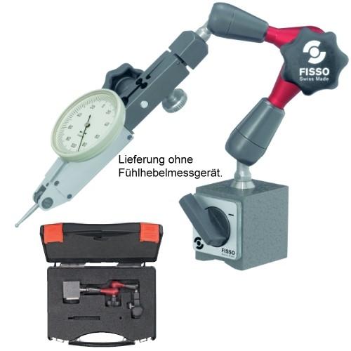 Abbildung: Magnet-Gelenkstativ Fisso STRATO XS-13 Kofferset Höhe: 220 mm (Das Bild kann vom Original geringfügig abweichen.)